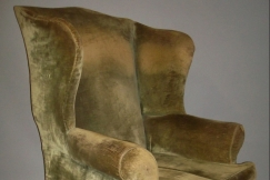 C19th large wing chair