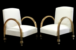 Rare Pair Art Deco Armchairs