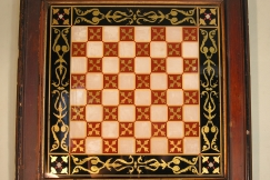 19th C. GLASS CHESS BOARD