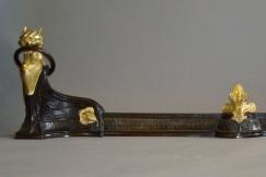 Pair of  Bronze Chenets