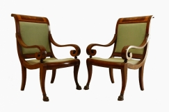 Pair Directoire Empire Chairs