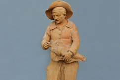 18th c. terracotta figure