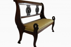 French Empire Bench Sofa Swan