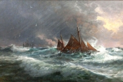 Ships near the cost of Skagen