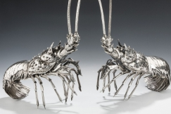 Pair of Silver Lobsters