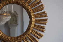 Vintage Gilt Sunburst Mirror