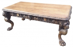 A large Edwardian oak table
