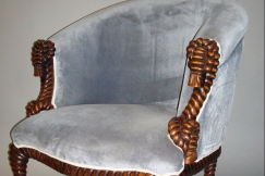 Decorative Mahogany Armchair