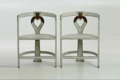Pair of Swedish artist-chairs